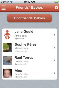 iPhone app find friends